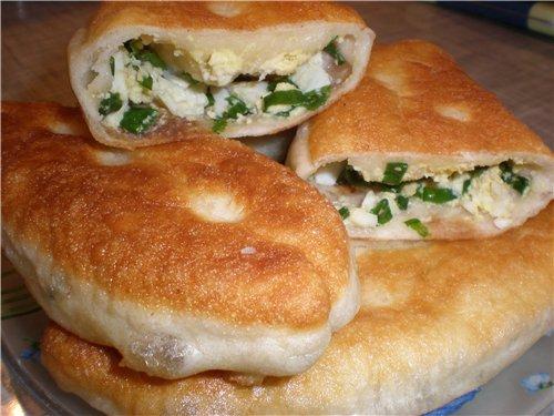 Пирожки с зеленым луком и яйцом рецепты