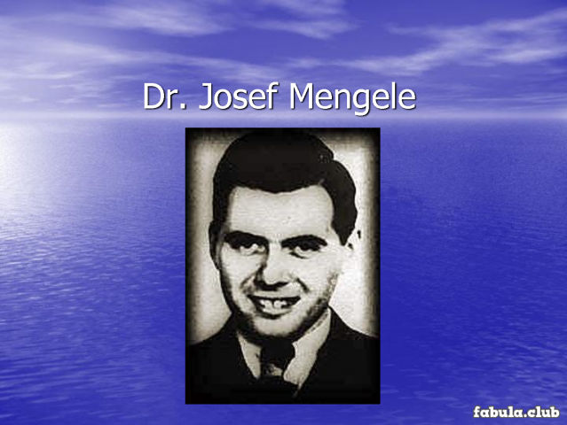 dr mengele essay Free essay: during world war two, the holocaust affected millions of lives, especially those of the twins and the children at auschwitz, who were brutally.