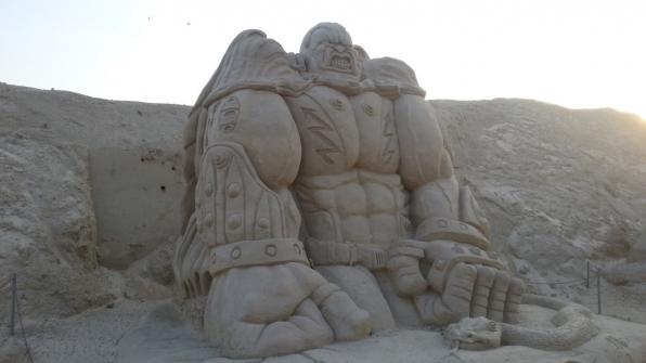 Скульптура из песка 4