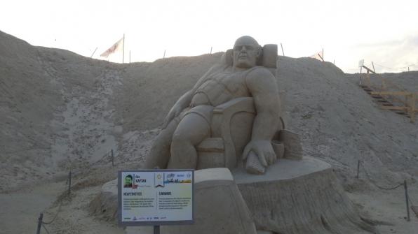 Скульптура из песка 2