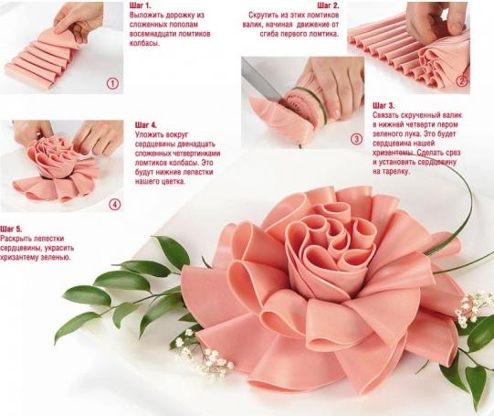 Объемная роза