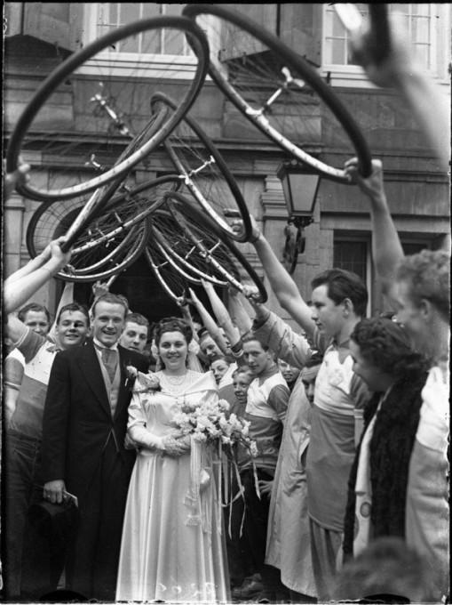 Свадьба велосипедистов, 15 марта 1950 года, Амстердам