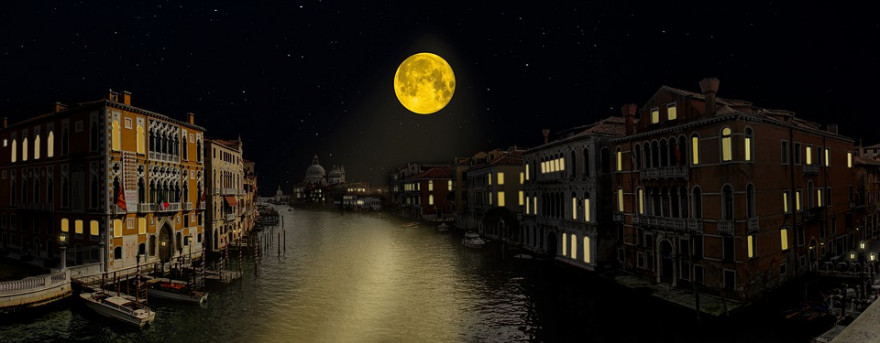 Как видна Луна в Венеции