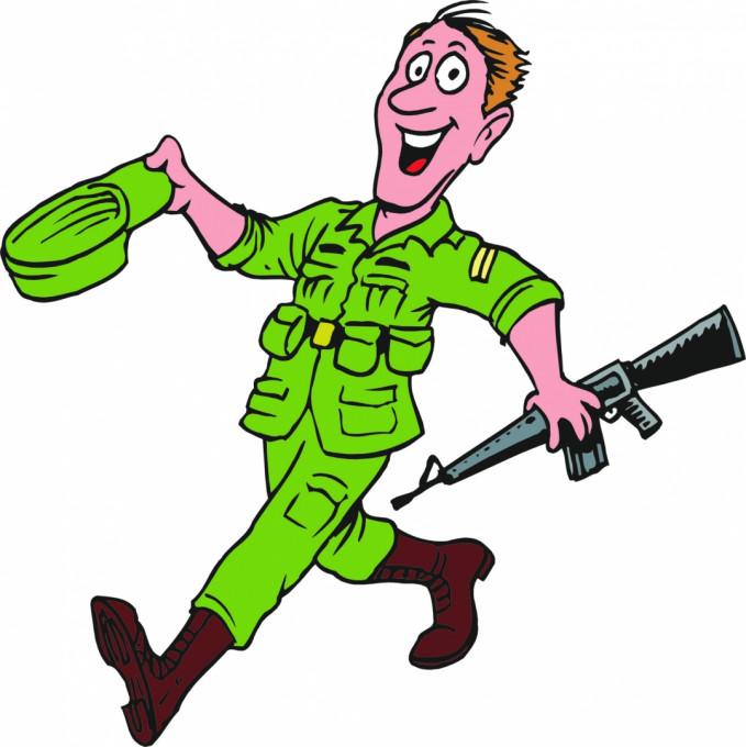 Прикольные рисунки на солдат